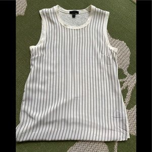 J Crew Stripe Silk Linen Top